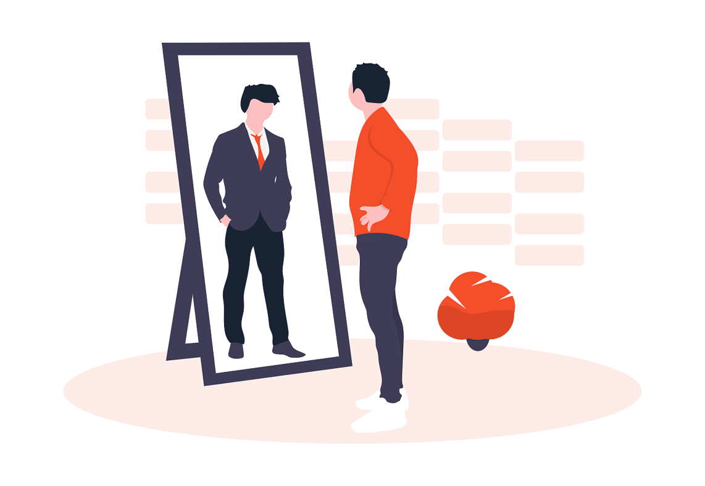 Image miroir candidat et consommateur