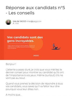 Mail Réponse Candidats 5